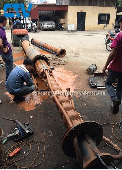 Sửa máy bơm nước giếng khoan ebara