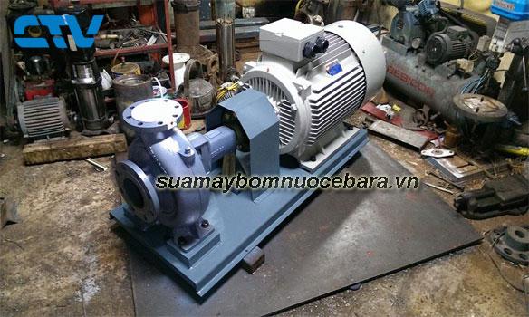 Sửa máy bơm nước công nghiệp Ebara chạy không lên nước